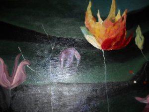 Circle of Life - Original oil painting by Dr. Rae - medium